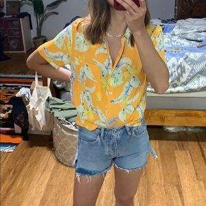 Forever 21 Tops - NWT forever21 cropped Aloha print shirt.
